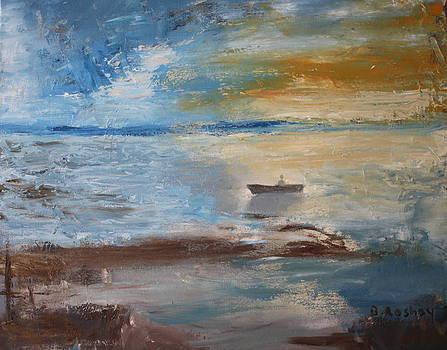 Sunset at sea by Brigitte Roshay