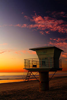 Sunset at South Carlsbad State Park by Eric Foltz