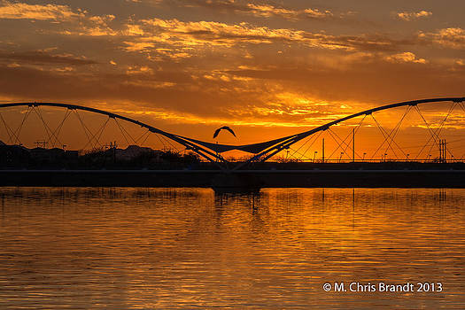 Sunset at Tempe Town Lake by M Chris Brandt