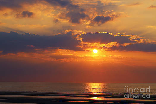 LHJB Photography - Sunset at the beach of Koksijde