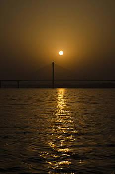 Sunset at the Ganga - Allahabad by Rohit Chawla