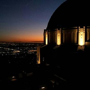 Sunset At The Griffith Observatory by Brett Dewey