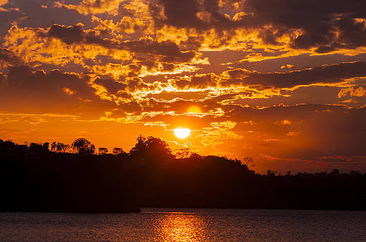 Sunset At The Lake by Floyd Raymer