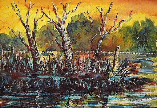 Sunset at the Lake by Kathleen Pio