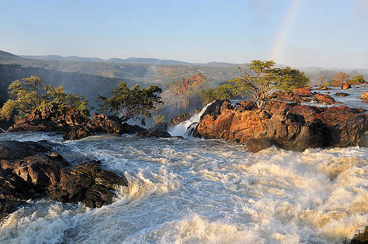 Sunset at the Ruacana waterfall in Namibia by Grobler Du Preez