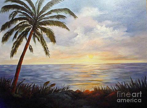 Sunset at the Sea by Barbara Haviland