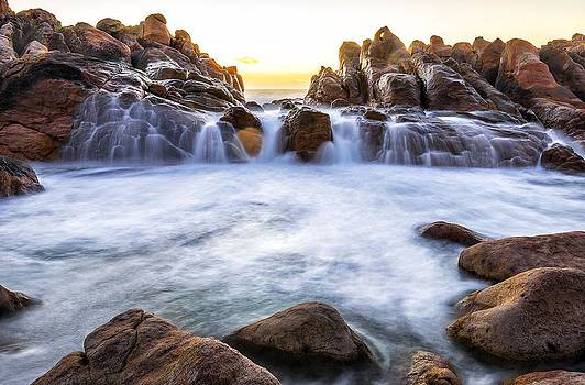 Sunset at Waterfall Rocks by Rick Drent