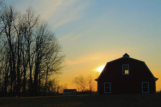 Sunset Barn by Danielle Allard