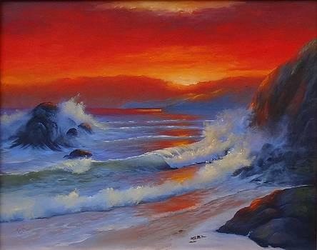 Sunset Beach by Fineartist Ellen