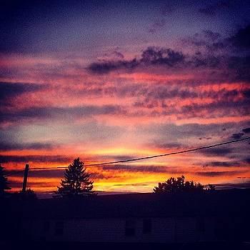#sunset #beautiful #sky #prettysky by Laura Vaillancourt