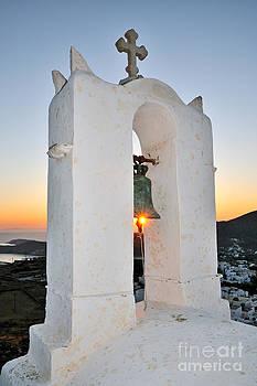 George Atsametakis - Sunset behind a belfry