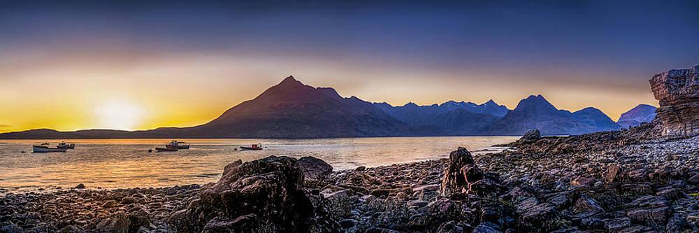 Sunset Black Cuillin Isle of Skye Scotland by Alex Saunders