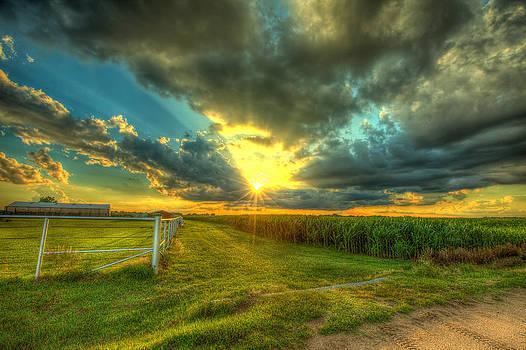 Sunset by the farm by  Caleb McGinn