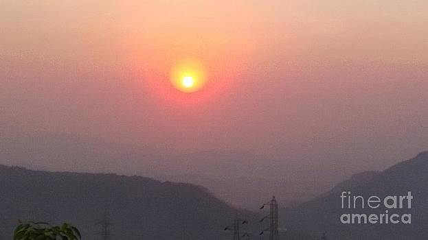 Sunset by the Mountain by Surabhi Jain