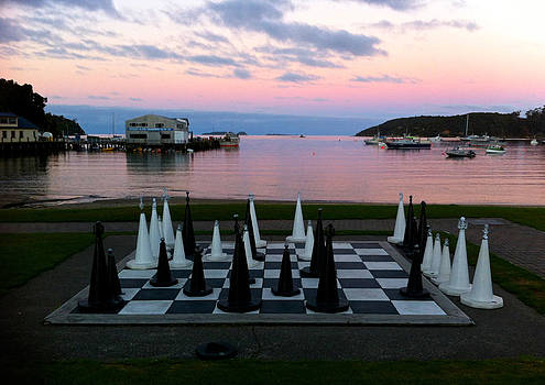 Venetia Featherstone-Witty - Sunset Chess at Half Moon Bay