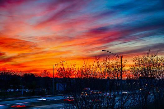 Sunset Chicago 11-14-13  by Michael  Bennett
