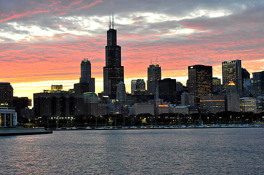 David Flitman - sunset Chicago