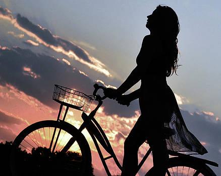 Sunset Cyclist by Kurt Bonnell