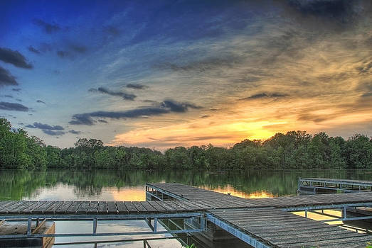 Sunset Dock by Perry Harmon