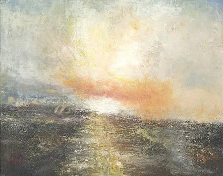 Sunset Drama by Joe Leahy