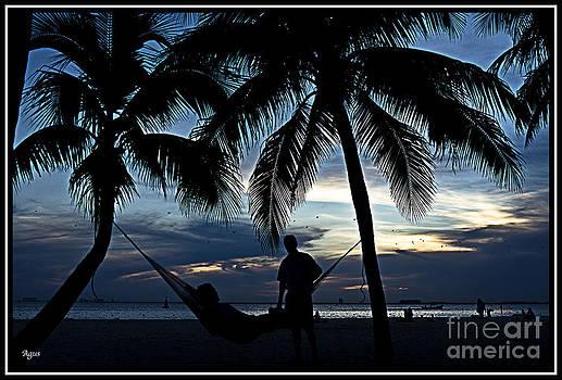 Agus Aldalur - sunset en el caribe