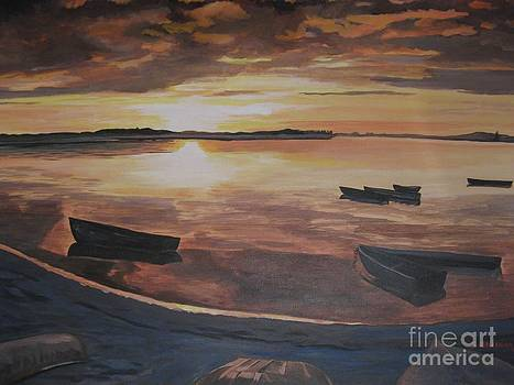 Sunset Evening Tide by Stella Sherman