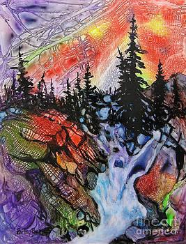 Sunset Falls by Betsy Bear