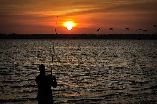 Sunset Fisherman by Phil Mancuso