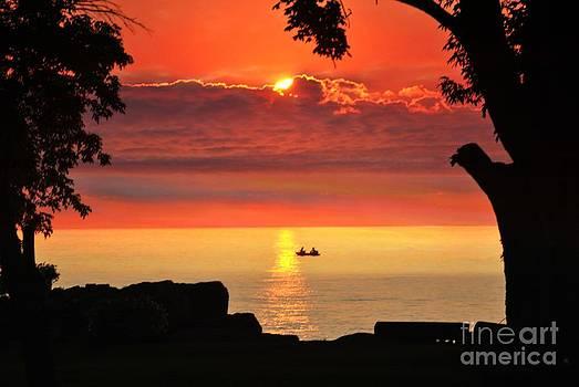 Linda Rae Cuthbertson - Sunset Fishing on Lamoka Lake