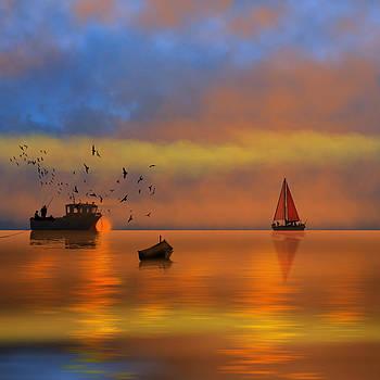 Sunset Fishing by Tanya Hall