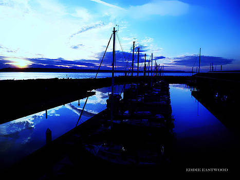 Sunset from Edmonds Washington Boat Marina by Eddie Eastwood