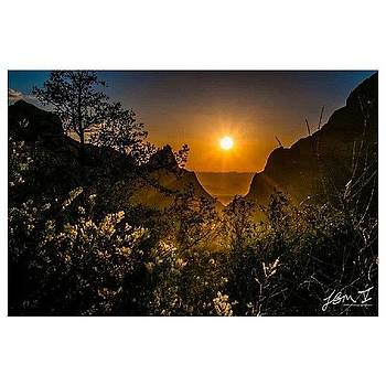 Sunset From The Window At Big Bend by Jb Manning
