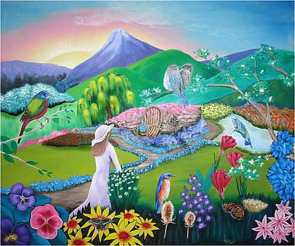 Sunset Garden by Karen R Scoville