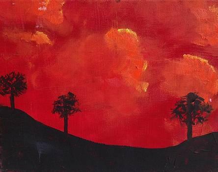 Sunset hill by Kendall Wishnick Adams