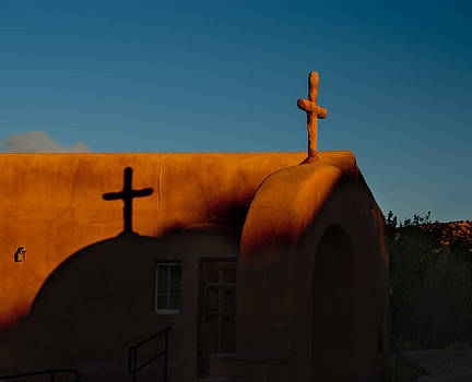 Sunset in Chimayo NM by Julie VanDore