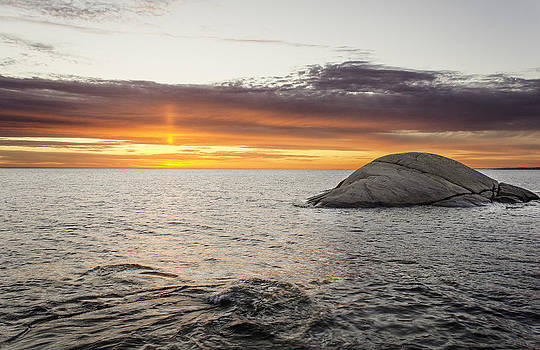Sunset in Halmstad by Kenneth Forland