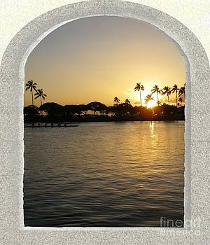 Sunset in Hawaii by Sylvie Heasman