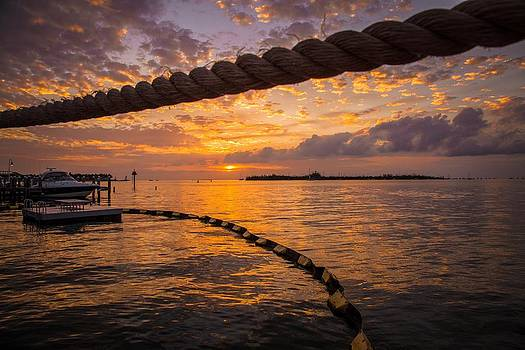 Sunset in Key West by Maria Robinson