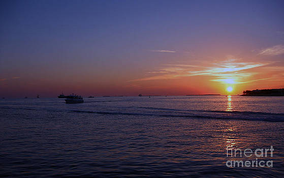 Sunset In Keywest by Tina Hailey