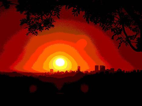 Sunset in Los Angeles by Vagik Iskandar