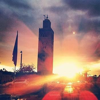 Sunset In Marrakech. #mosque #marrakech by Sarah Dawson