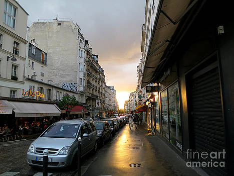 Sunset in Paris  2 by Tanya  Searcy