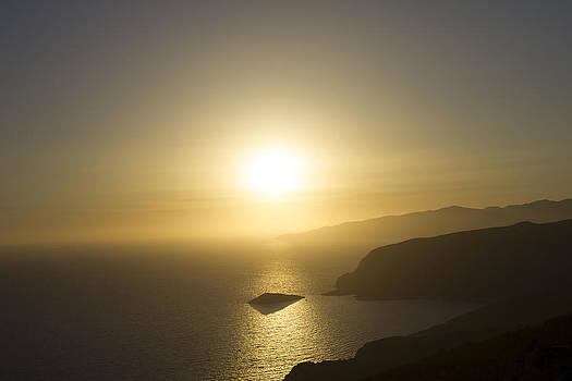 Sunset in Rhodes by Alejandra Pinango