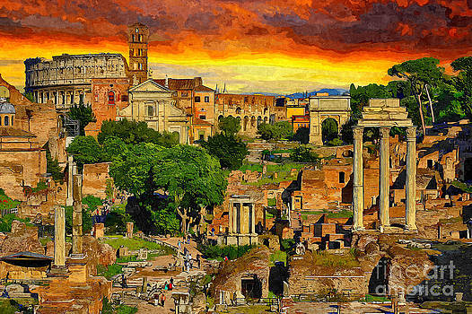 Sunset in Rome by Stefano Senise
