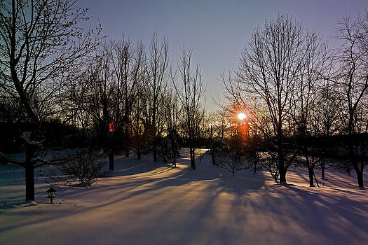 Sunset in Snow by Greg Reed