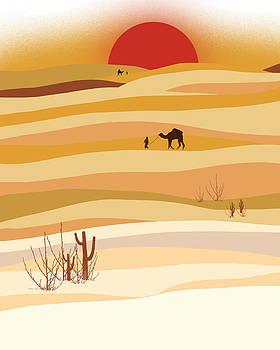 Sunset in the desert by Neelanjana  Bandyopadhyay