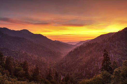 Sunset in the Mountains by Andrew Soundarajan