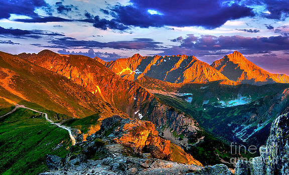 Sunset in The Tatras HDR by Lilianna Sokolowska