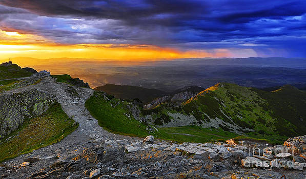 Sunset in The Tatras I by Lilianna Sokolowska