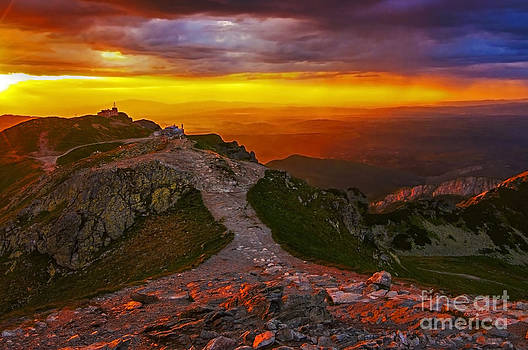 Sunset in The Tatras II by Lilianna Sokolowska